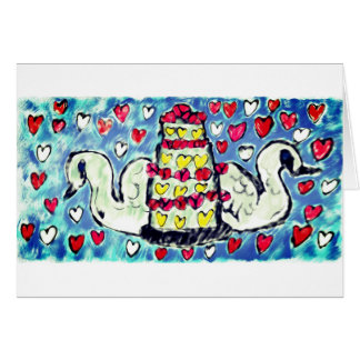 Wedding cake art two card
