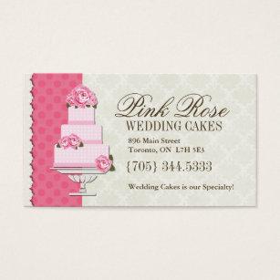 Elegant wedding cake designer business cards templates zazzle wedding cake artist business cards reheart Choice Image