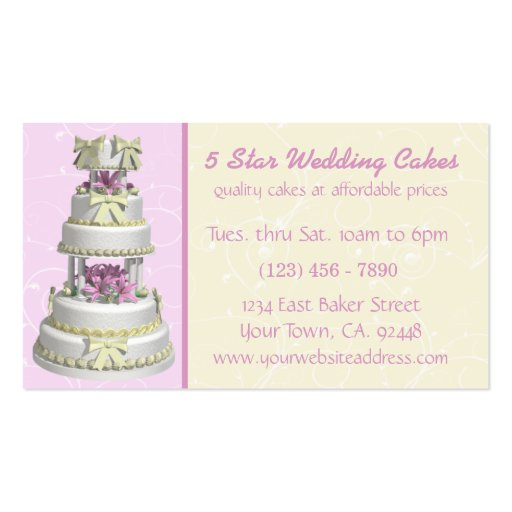 wedding cake business from home wedding cake bakery business card zazzle 22133