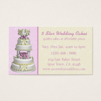 Wedding Cake Bakery Business Card