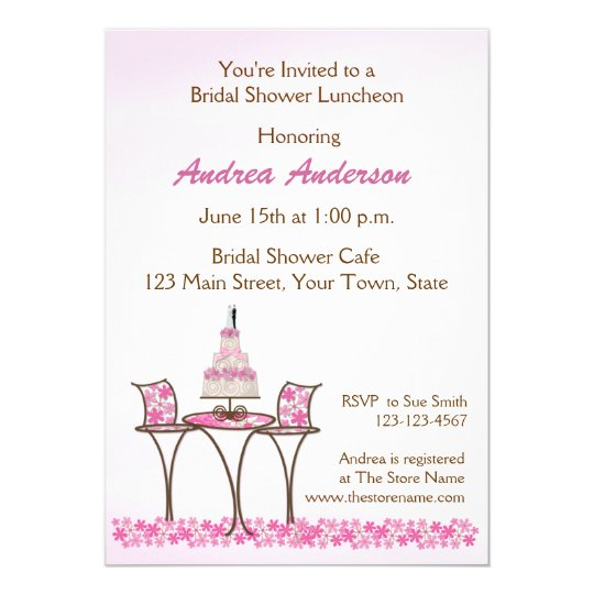 Wedding cake shower invitations
