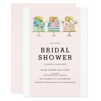 Wedding Cake Bridal Shower Invitation