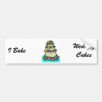 Wedding Cake Bumper Sticker