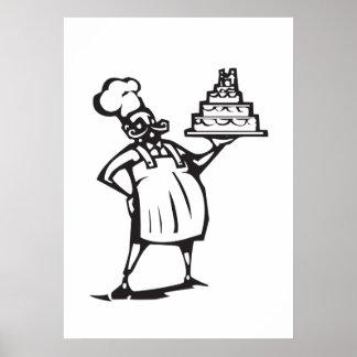 Wedding cake Chef Poster