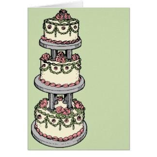 Wedding Cake - Customizable Color! Greeting Cards