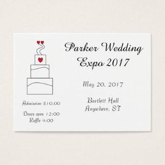 Wedding Cake Design-Your-Own Tickets