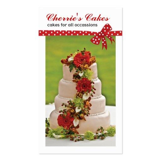 Wedding Cake Designer Business Cards (front side)
