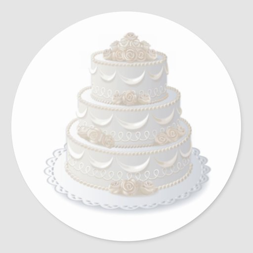 wedding cake bag stickers wedding cake envelope seal classic sticker zazzle 21785