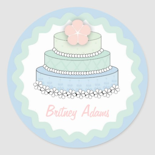 wedding cake bag stickers wedding cake gift label classic sticker zazzle 21785