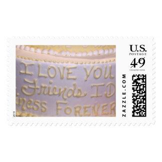"Wedding Cake 'I Love you"" Stamp"