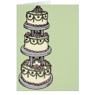 Wedding Cake II - Customizable Color! Greeting Cards