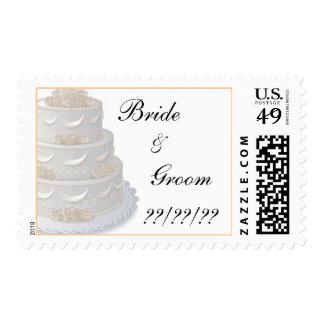 Wedding Cake Invitation Stamps 2009
