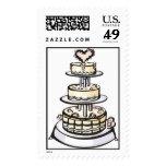 Wedding Cake Invitation Stamps 2015
