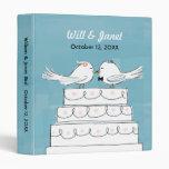 Wedding Cake Love Birds - Bride & Groom Kiss 3 Ring Binder