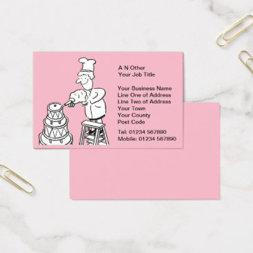 Wedding Themed Wedding Cake Makers Business Card