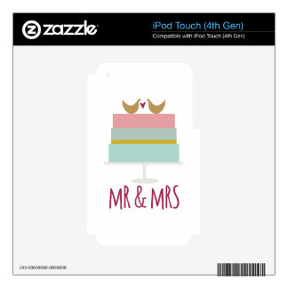 Wedding Cake_Mr And Mrs iPod Touch 4G Skin