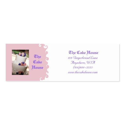 Wedding Cake Pink Swirl  Business Card