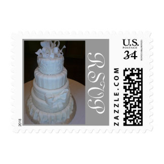 Wedding Cake postage RSVP