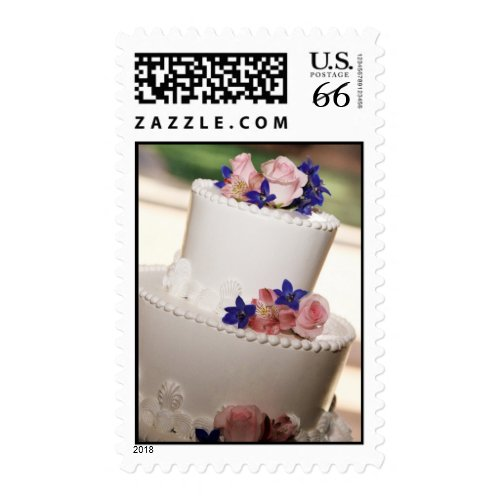 Wedding Cake Postage Stamp Stamp