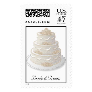 Wedding Cake Postage Stamp