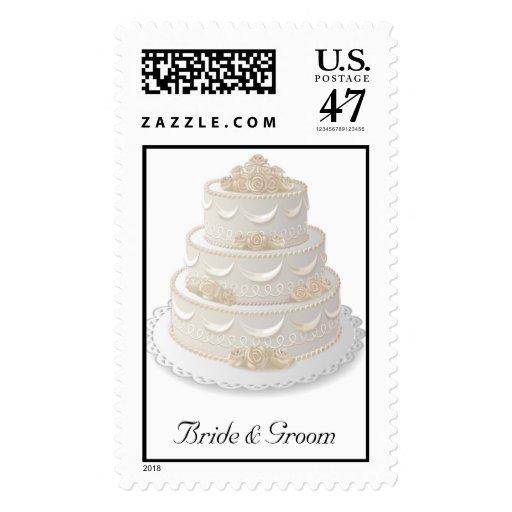 Wedding Cake Postage Stamp Zazzle
