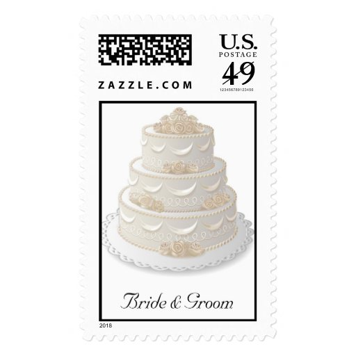 Wedding Cake Postage Stamp Zazzle