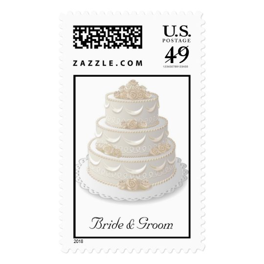 wedding cake stamp wedding cake postage stamp zazzle 25599