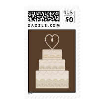 wedding cake postage stamps