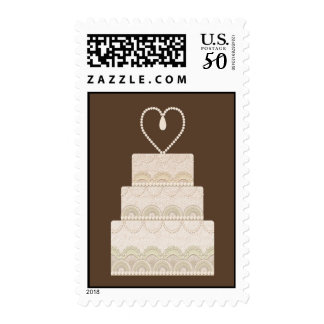 wedding cake postage stamps