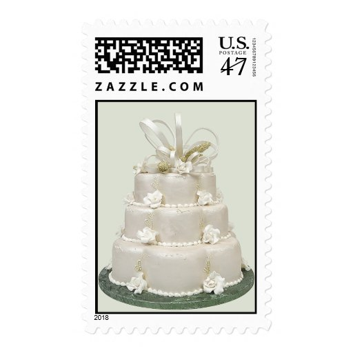 wedding cake stamp wedding cake postage stamps zazzle 25599