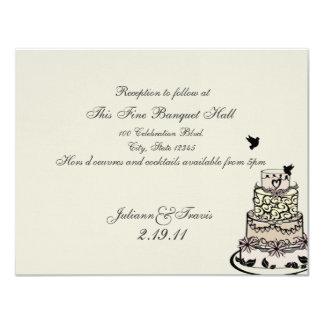 Wedding Cake/ Reception Card