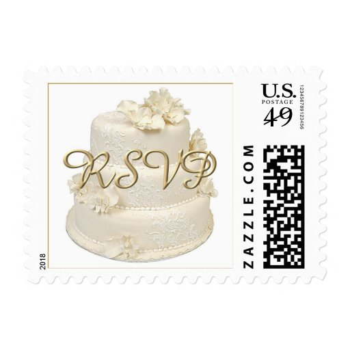 Wedding Cake RSVP Stamps Zazzle