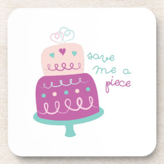 Wedding Cake Save Me A Piece Drink Coasters
