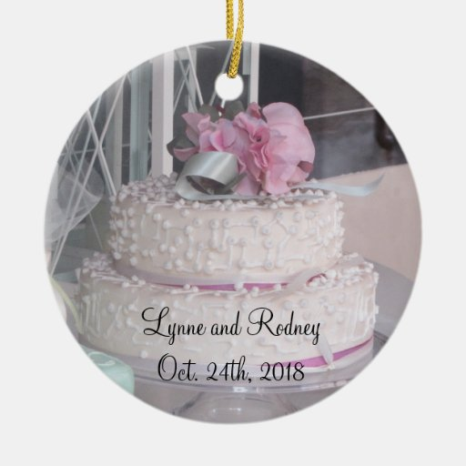 wedding cake christmas tree ornament wedding cake save the date tree ornament zazzle 22199
