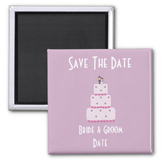 Wedding cake Save the Date magnet