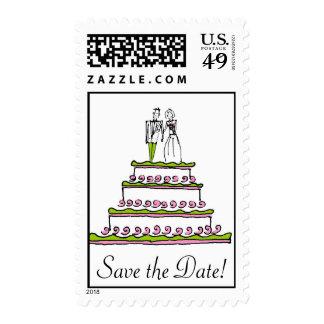 WEDDING CAKE, Save the Date! Postage