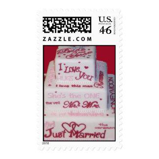 Wedding Cake Side view Postage Stamp