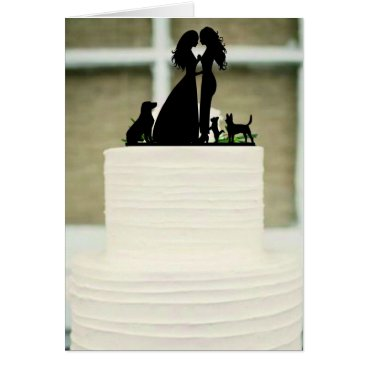 Bride Themed Wedding Cake - Silhouette Card