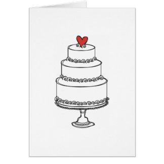 Wedding Cake Sketch - Plain Cards