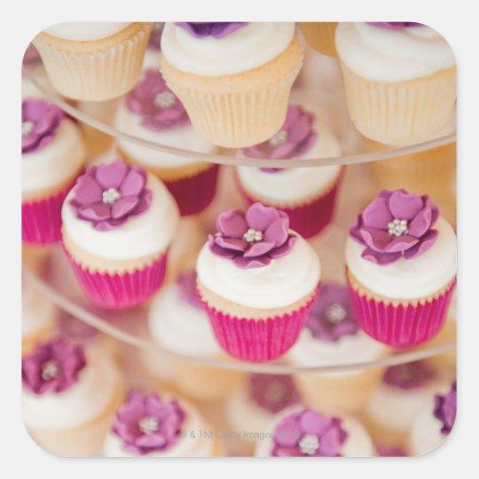 Wedding cake square sticker
