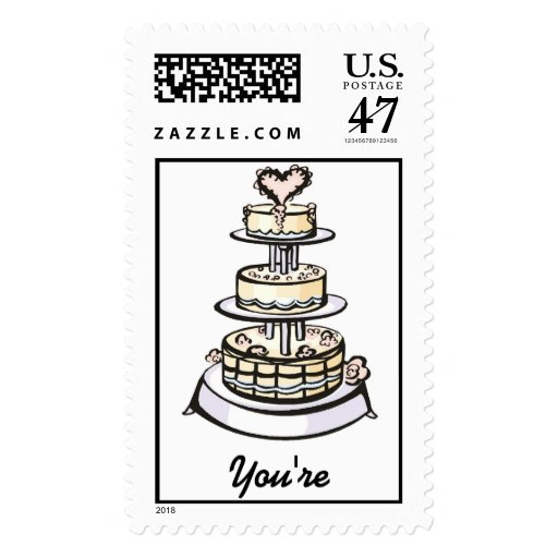 wedding cake stamp wedding cake stamp zazzle 25599