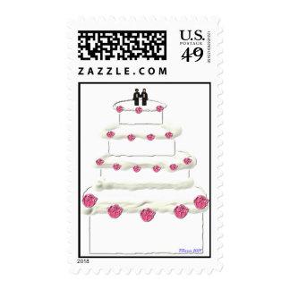 Wedding Cake Stamp 15