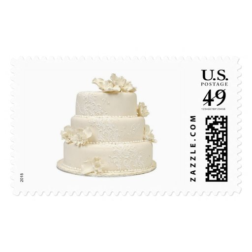 wedding cake stamps invitation rsvp save the date zazzle. Black Bedroom Furniture Sets. Home Design Ideas