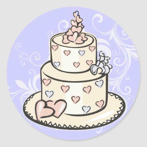 wedding cake bag stickers wedding cake stickers zazzle 21785