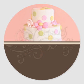 Wedding Cake stickers/bakers/pastry chef Classic Round Sticker