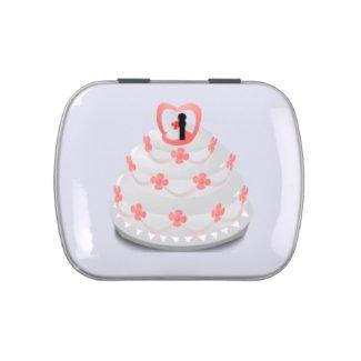 Wedding Cake Theme Jelly Belly Tin