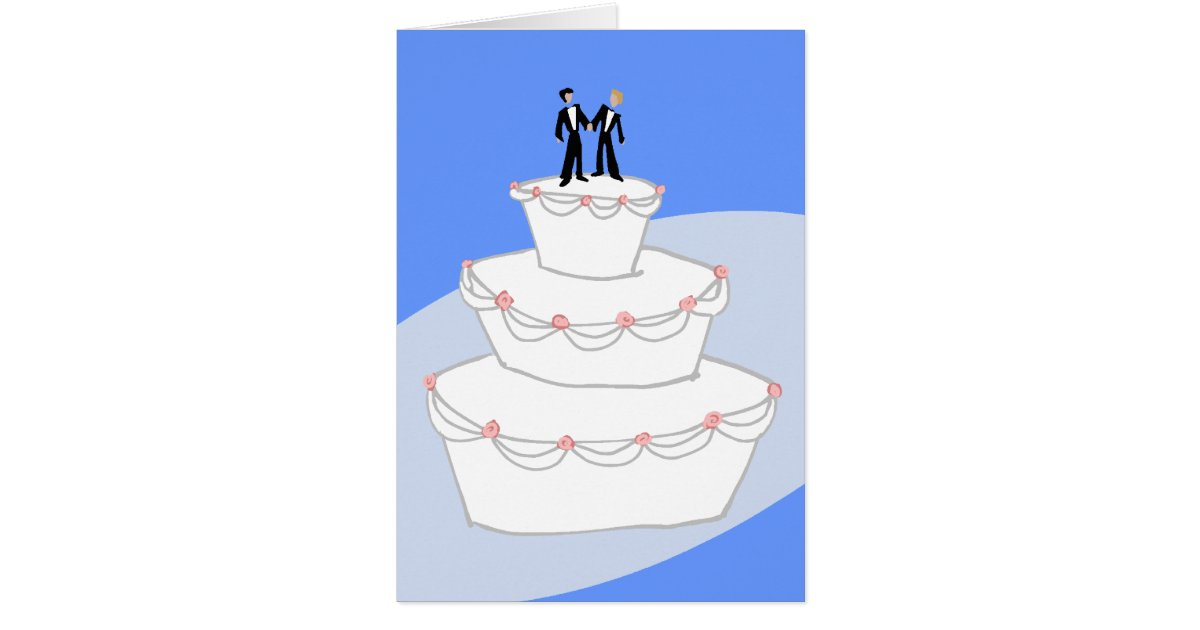 wedding cakes for two grooms wedding cake two grooms card zazzle 24385
