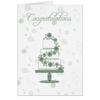 wedding cake, wedding day congratulations to the b card
