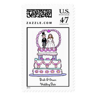 Wedding Cake Wedding Postage Stamp