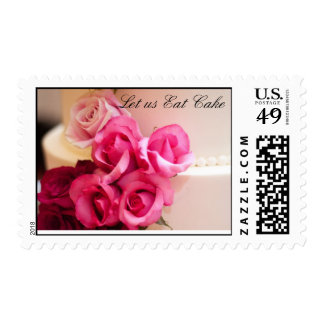 Wedding Cake with Roses Stamp